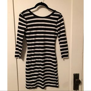 Express fitted striped dress